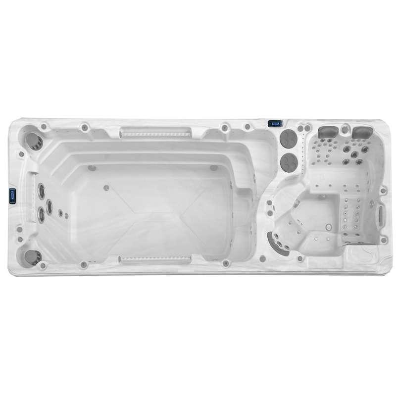 A-Spas Aquarius 6000 Swim Spa Whirlpool-/ Schwimmbereich getrennt 590 x 222 x 154 cm