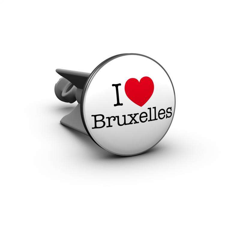 Plopp Waschtischstöpsel Waschbeckenstöpsel Motiv I love Bruxelles Brüssel 332