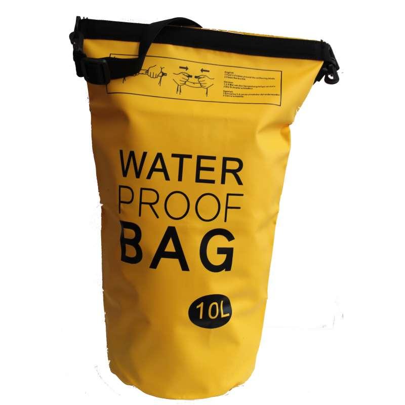 Drybag Tasche 10 Liter wasserdicht Packsack orange Water proof Softcase Beutel