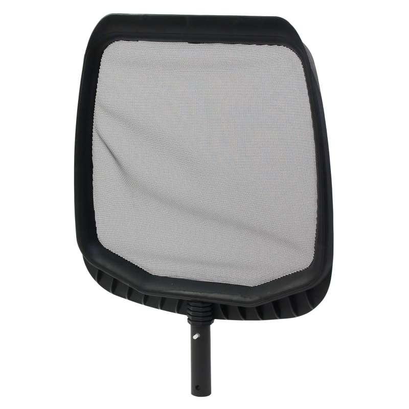 Laubkescher mit Aufnahmelippe Farbe schwarz Schwimmbad Poolkescher 2500042DP