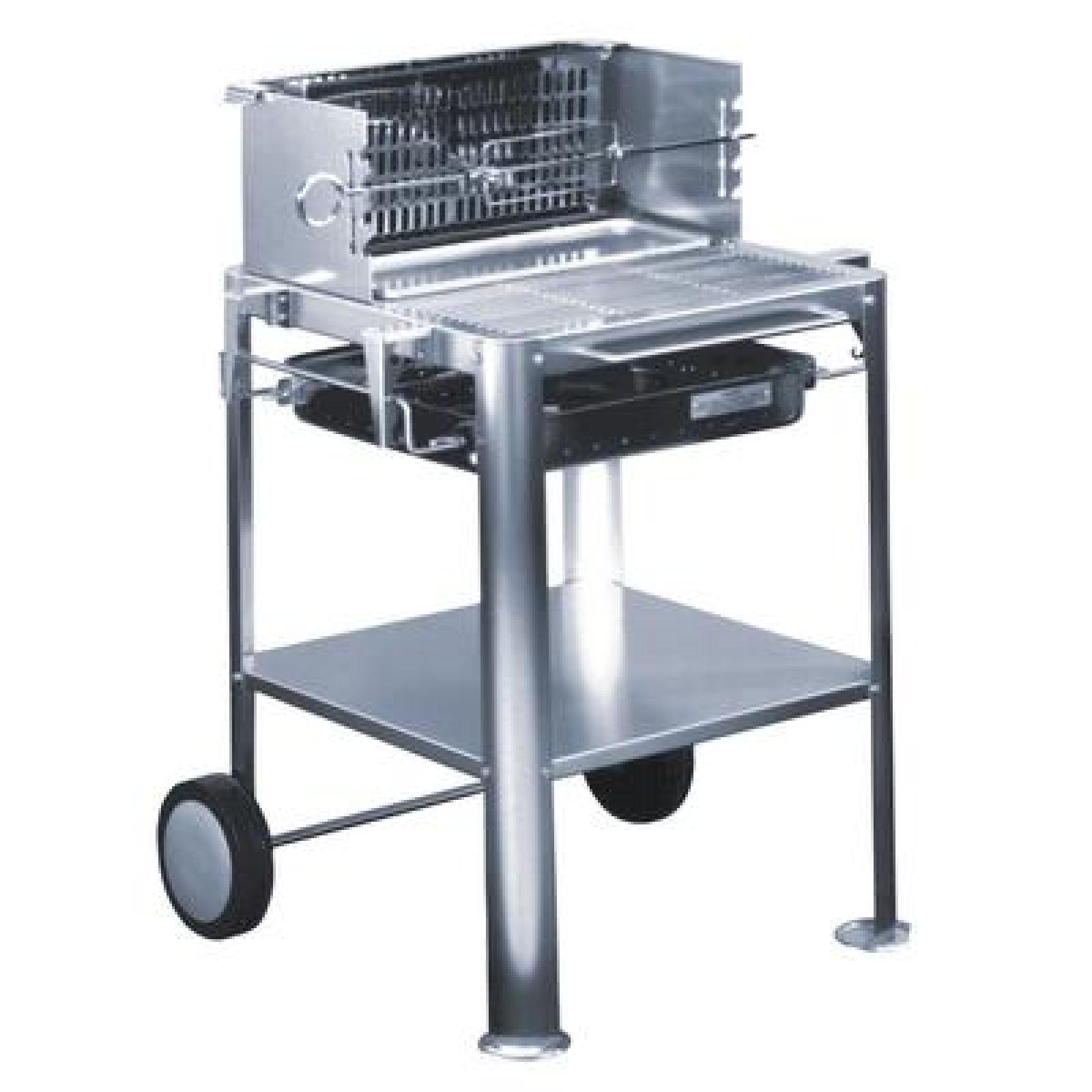 heibi edelstahl holzkohle grill trendy-mobil fahrbar edelstahl 51085
