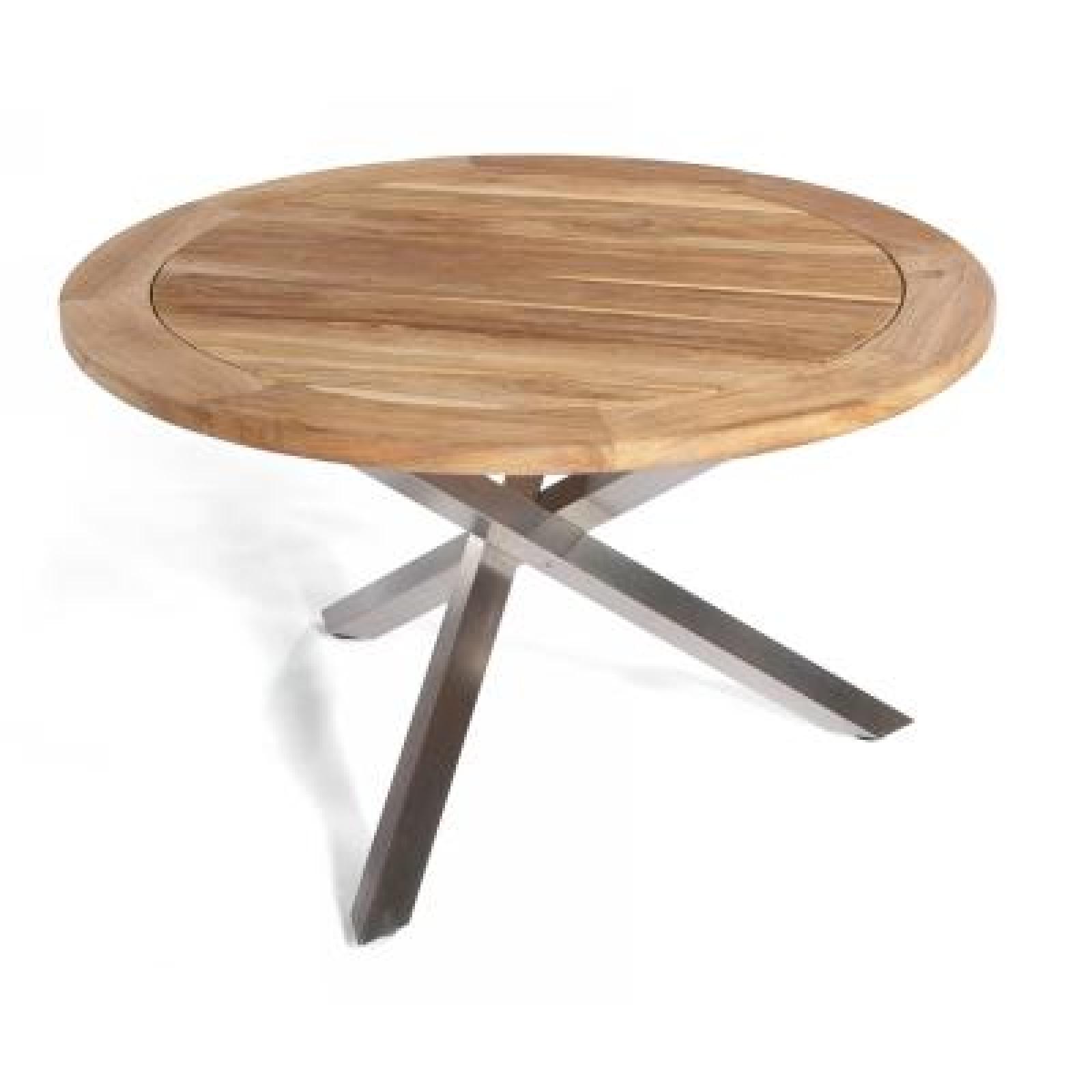 Sonnenpartner Gartentisch Tisch Spectra O126 Cm Edelstahl Old