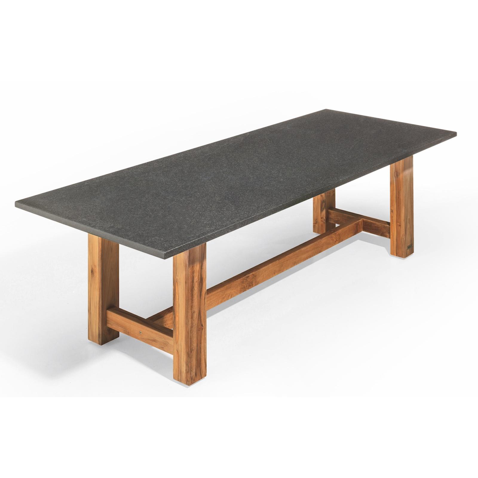 studio 20 voss gartentisch 300 x 100 x 75 cm outdoortisch granittisch teakholz ebay. Black Bedroom Furniture Sets. Home Design Ideas