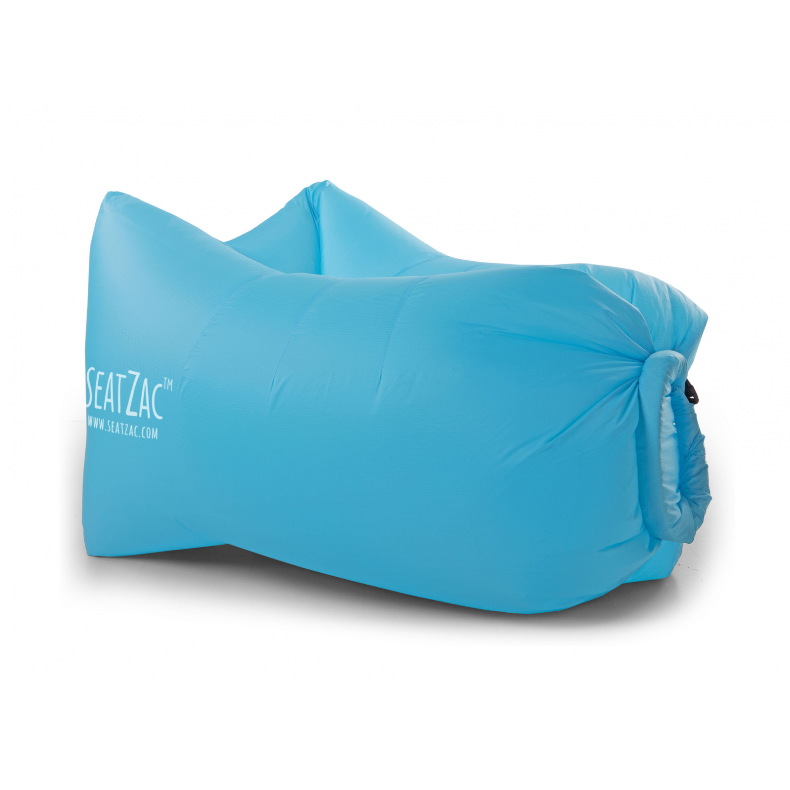 seatzac chillbag polyester inkl tragetasche blau sitzsack luftsack luftsofa ebay. Black Bedroom Furniture Sets. Home Design Ideas