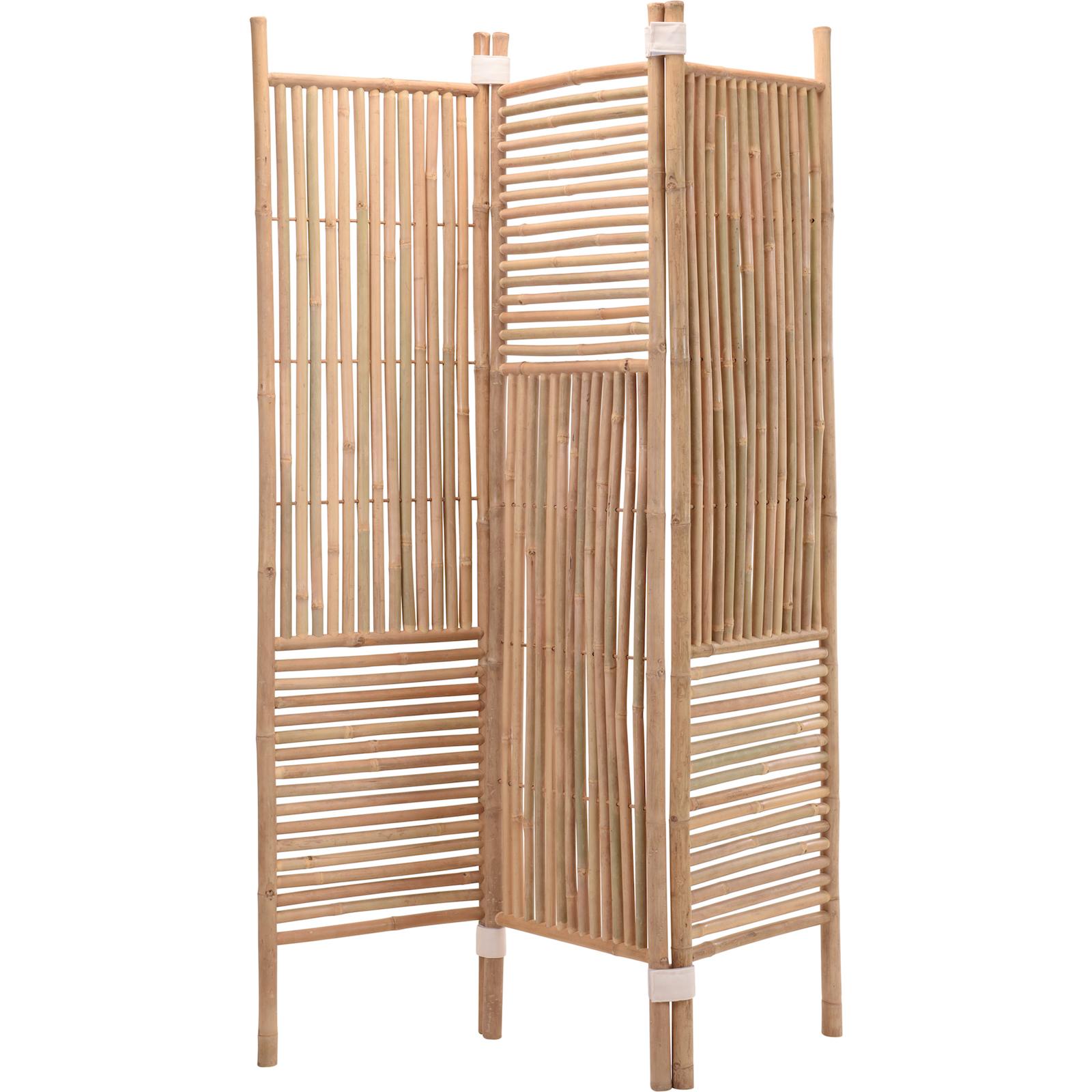 paravent wandschirm sichtschutz 130 x 180 cm klappbar bambus